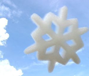 Custom Shaped Logo Cloud Snowflake