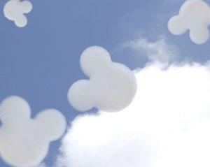 Custom Shaped Mickey Logo Clouds